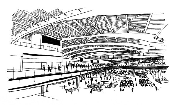 Heathrow Terminal 5 Drawing